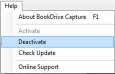 How to deactivate the software online?
